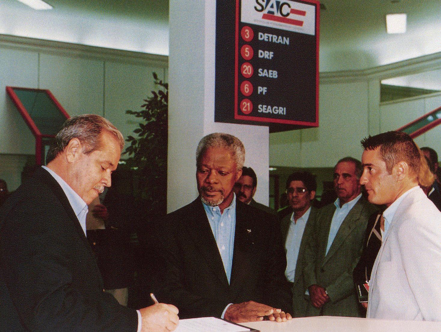 Koffi Annan (Secretario General de la ONU) en visita oficial al Estados de Bahia - Ceremonial del Gobierno del Estado de Bahia - Palaciodel Gobierno, 12/JUL./98, Bahia (Brasil).