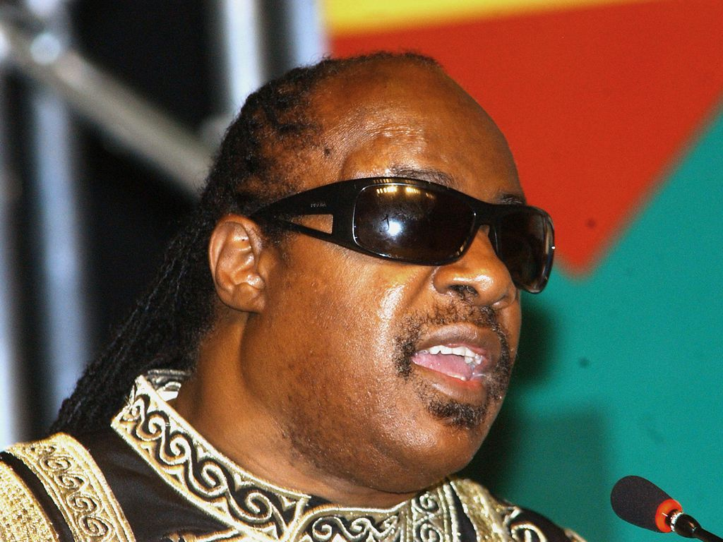 Stevie Wonder (North American singer) during the II Conference of Experts on Africa and African Diaspora – Bahia Convention Center – Jul/12 to 15/2006 – Salvador, Bahia